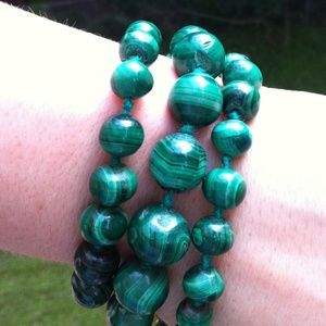 Jewelry - Gorgeous Malachite Bead Necklace